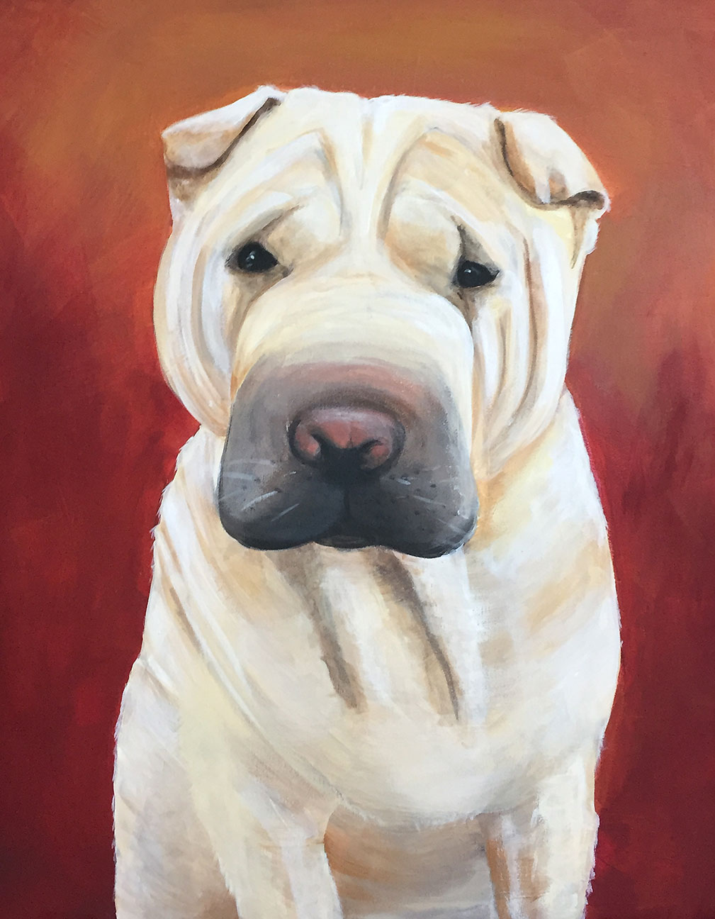 painting of your sharpei dog by teri althouse avani studios daytona beach
