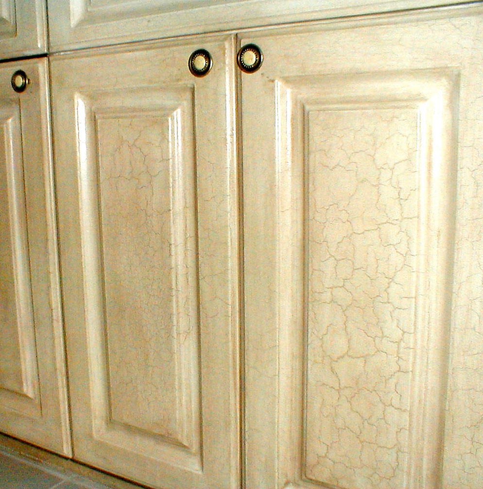 Le Faux Finish Lied To Kitchen Cabinets Of Luxury Home Ormond Beach Avani Studios