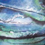 Encaustic Art Sea Storm