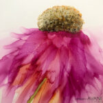 ALCOHOL INK PINK FLOWER